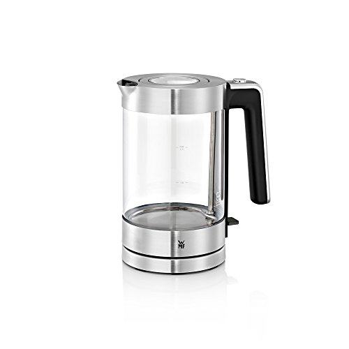 WMF LONO Glas Wasserkocher (3000 W, 1,7 l, SCHOTT DURAN Glas, Kalk-Wasserfilter) cromargan matt/silber
