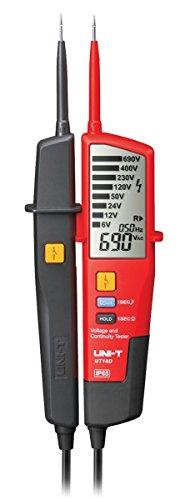 UNI-T MIE0196/UT18D Multimeter Spannungsprüfer, Durchgangs-und RCD Test, IP65, LCD-Anzeige