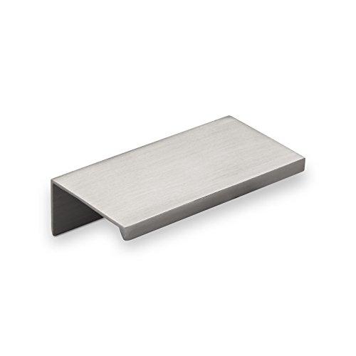 10er Set Alu Möbelgriff SEARL 70 mm Edelstahloptik Griff-Profilleiste Schubladengriff Küchengriff von SO-TECH
