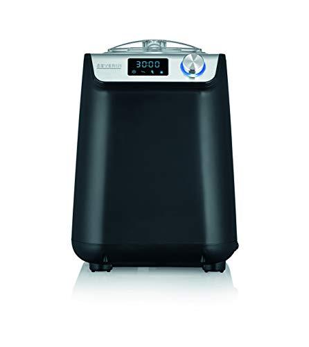 SEVERIN EZ 7407 Kompakt-Eismaschine mit Kompressor, 1.2l Fassungsvermögen, hochwertiges Gehäuse mit Edelstahl-Applikation, innovative Joghurt-Funktion, 1.2 liters, Silber gebürstet