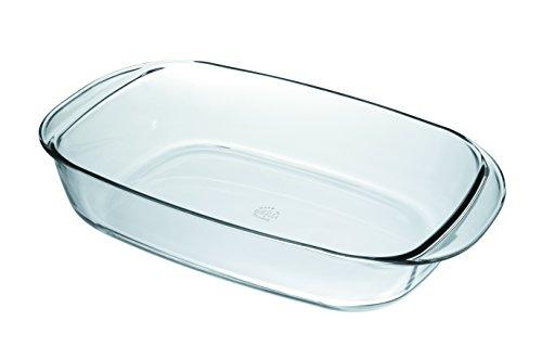 Duralex Eckige Auflaufform / Gehärtetes Glas / 38 x 23 cm / Hitzebeständiges Ofengeschirr / Spülmaschinenfest / Hergestellt in Frankreich