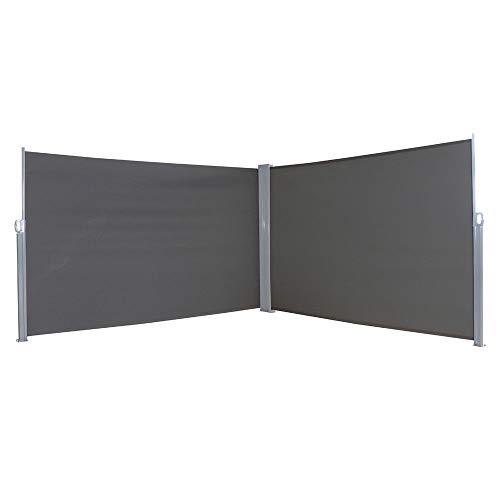HENGMEI 160x600cm Sichtschutzwand Sichtschutz Sonnenschutz Seitenrollo Markise für Balkon Terrasse Garden (160 cm, Anthrazit)