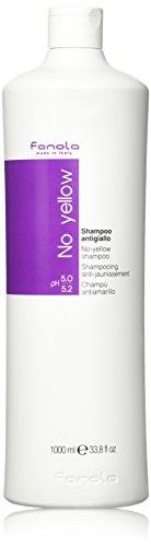 Fanola No Yellow Shampoo 1000 ml Gegen Gelbstich in grauem, weißem oder blondem Haar