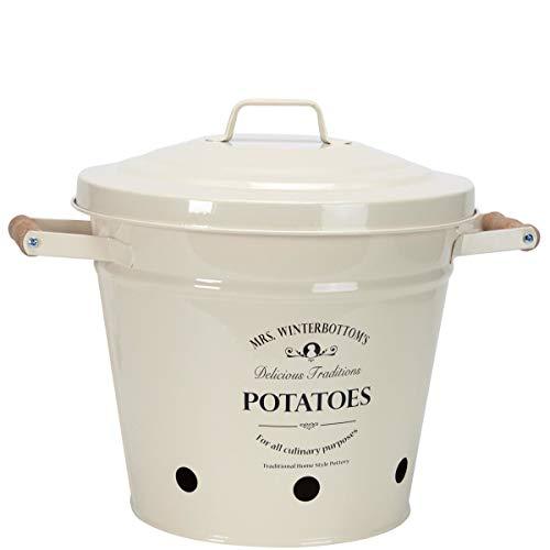 Butlers Kartoffeleimer aus Zink im englischen Design - creme - Mrs. Winterbottom's