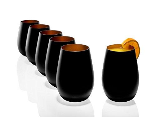 Stölzle Lausitz Becher 465 ml, 6er Set, Wassergläser (matt), spülmaschinenfest, bleifreies Kristallglas, hochwertige Qualität