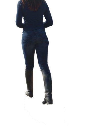 TanjaMix - Virginia1122 - Skinny/ Slim Fit - dark blueDamenjeans - Stiefeljeans - Westernjeans - Reitjeans -Reithose Grösse 34K, Farbe Blau
