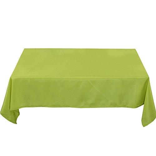 Deconovo Tischdecke Wasserabweisend Tischwäsche Lotuseffekt Tischtücher 130x160 cm Grün