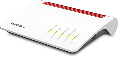 AVM FRITZ!Box 7590 High-End WLAN AC + N Router (VDSL-/ADSL, 4x4 MU-MIMO mit 1.733 (5 GHz) + 800 MBit/s (2,4 GHz), bis zu 300 MBit/s durch VDSL-Supervectoring 35b, DECT-Basis, Media Server)