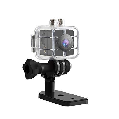Mini Kamera SQ12, Funkprofi 1080P Full HD 30 m Wasserdichte Klein Sport DV 12 Megapixel IR Nachtsicht Camcorder 155° Weitwinkel Bewegungsmelder