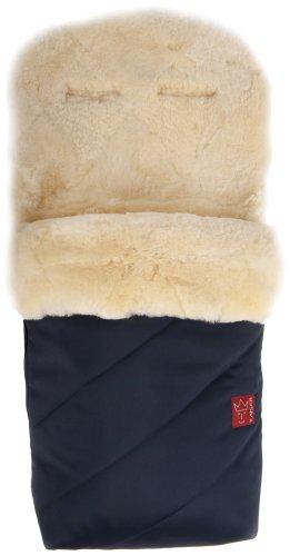 Kaiser Fußsack 'Paat', echtes Lammfell Medizin (keine Lammwolle), marine