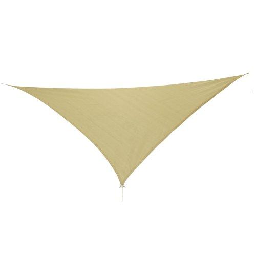 10T Emerson Dreieck Tarp 5m je Seite Sonnensegel wetterbeständig, atmungsaktiv, 90% UV Schutz Sonnenschirm  Markise inkl. Abspannseile für Camping Garten Terasse Balkon