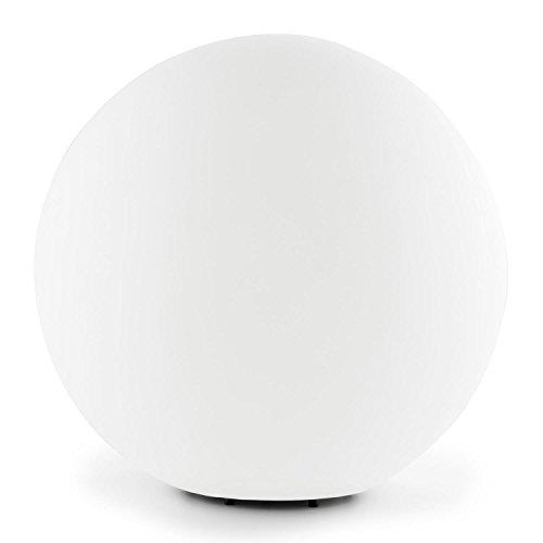 Lightcraft • Shineball XL • Gartenleuchte • Außenleuchte • Kugelleuchte aussen • für Garten und Außenanlagen • 50 cm Durchmesser • robuster Kunststoff • Fassung E27 • 40 Watt max. • spritzwassergeschützt • winterfest • Erdnägel • einfache Montage • weiß