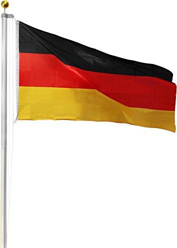 Aluminium Fahnenmast 6,20 - 6,80 oder 7,50 m Höhe inkl. Deutschlandfahne Farbe Deutschland Größe 7.50 Meter