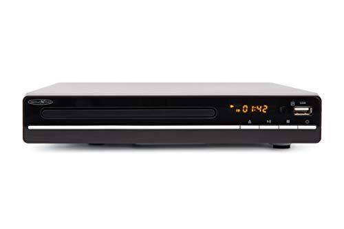 Reflexion DVD Player mit HDMI, USB und SCART, LCD-Display, Fernbedienung, schwarz