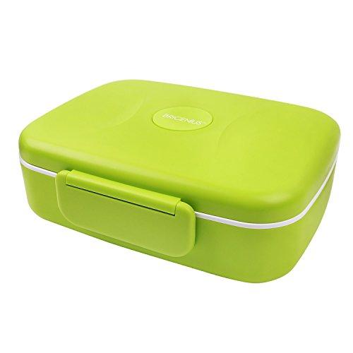 BRIGENIUS Bento Box Auslaufsichere Brotzeitbox, Weizenstroh Fünf Separate Kammern Lunchbox für Kinder Halten Essen Frisch Brotdose für Kindergarten Schule Grundschulkinder Frühstücksbox