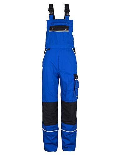 TMG Komfortable Herren Latzhose in vielen Farben & Größen | Männer Arbeitslatzhose mit Reflektoren und Taschen für Kniepolster