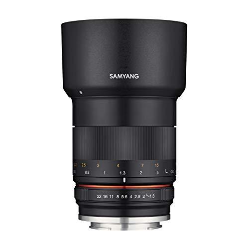 Samyang MF 85mm F1.8 ED UMC CS Fuji X - manuelles Objektiv mit 85 mm Festbrennweite für spiegellose Fujifilm APS-C Systemkameras mit Fuji-X Anschluss, 62mm Filtergewinde, ideal für Portrait