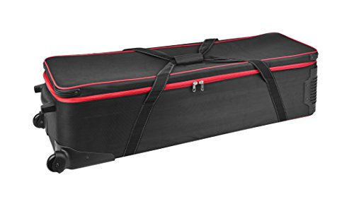 Bresser Fotostudio XL Studio Koffer BR-B125 mit Rädern und flexibler Einteilung der Innenfächer inklusive Handgriff zum Ziehen