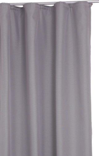 Thermo-Übergardine Grau mit Kräuselband ca. 140 x 245 cm von DecoHometextil