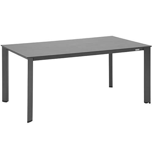 Kettler Gartentisch Lofttisch 160x95 cm Aluminium/Kettalux Anthrazit/Schieferoptik Terrassentisch Balkontisch Outdoor Tisch wetterfest