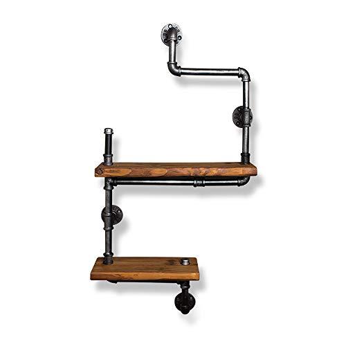 Link Co Jahrgang Bücherregal Zimmer Multifunktional Wandspeicher Regal Geschmiedet Eisen Solide Holz Trennwand Wasser Rohr Gestell Dauerhaft