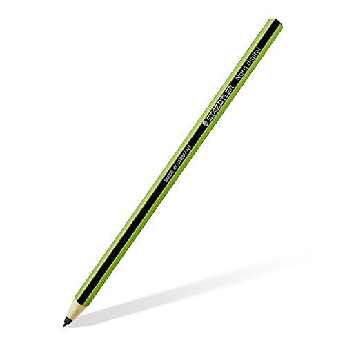 Staedtler Stylus Noris digital, 180 22-5 Sechskantform, EMR-Technologie, attraktives Noris Streifen-Design grün-schwarz, ergonomische Soft-Oberfläche, feine 0.7 mm Spitze