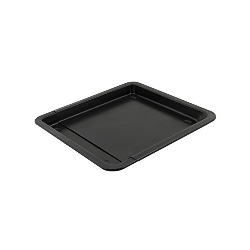 axentia Universal-Backblech zum Ausziehen - Pflaumenkuchen-Blech ausziehbar 33 - 52 cm - Pizzablech antihaftbeschichtet & verstellbar - Fettpfanne Backofen beschichtet für Kuchen & Pizza - Kuchenblech bis 250°C