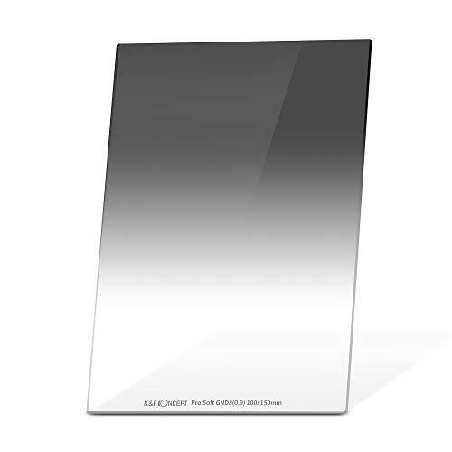 K&F Concept Soft Filter Medium GND8 Grauverlaufsfilter ND 0,9 Rechteckfilter 100x150x2mm