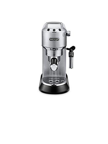 De'Longhi Dedica EC 685.M Espresso Siebträgermaschine   15 bar    Professionelle Milchschaum Düse   Schnelles Aufheizen    Füllmenge 1 l   Vollmetallgehäuse   Temperaturkontrolle    Auch für Pads geeignet   Silber