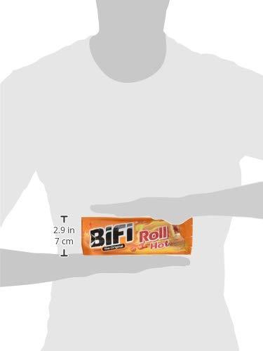 BiFi Roll Hot - Herzhafter, pikanter Salami Fleischsnack - Snack im Teigmantel - 24er Pack (24 x 50 g)