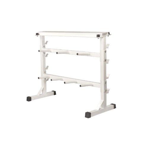 Hantel-Scheibenständer Hantel-Ablage Weiß 30/31mm  –  GORILLA SPORTS Hantel-Ständer für Gewichte : Langhantel, Kurzhantel, Gewichtsscheiben