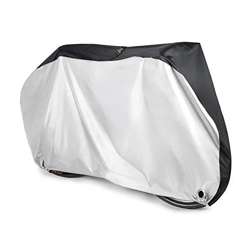 Fahrradabdeckung Aival Wasserdichte Regenhülle 190T Nylon Regen UV-Schutz Heavy Duty Staubschutz für Mountainbike, Rennrad mit Lock-holes Aufbewahrungstasche