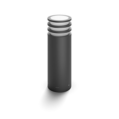 Philips Hue LED Sockelleuchte Lucca für den Aussenbereich, dimmbar, warmweißes Licht, steuerbar via App, kompatibel mit Amazon Alexa (Echo, Echo Dot)