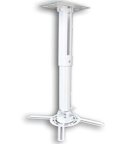 Beamer Projektor Deckenhalterung drehbar 360° ausziehbar bis 55 cm weiß, Model 3151