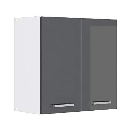 Vicco Küchenschrank Hängeschrank Unterschrank Küchenschränke Küchenunterschrank Arbeitsplatte, Möbel verfügbar in anthrazit und weiß (anthrazit ohne Arbeitsplatte, Hängeschrank 60 cm)