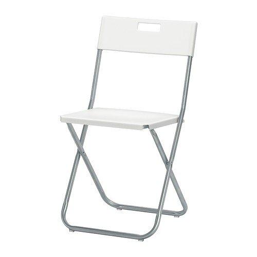 IKEA GUNDE Klappstuhl in weiß