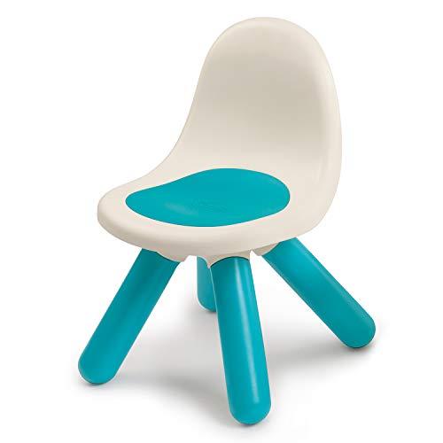 Smoby 880104 Kid Stuhl blau, Design Kinder-Stuhl aus Kunststoff mit Rückenlehne für Indoor und Outdoor, Made in France, blau