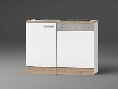idealShopping GmbH Spülenschrank-Set mit Arbeitsplatte SPGSSET-9 in weiß