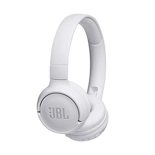 JBL Tune500BT On-Ear Bluetooth-Kopfhörer in Weiß – Faltbarer, kabelloser Ohrhörer mit integriertem Headset – Musik Streaming bis zu 16 Stunden mit nur einer Akku-Ladung