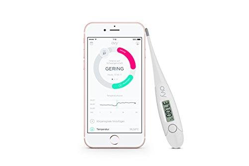 Basalthermometer zur Zykluskontrolle mit gratis App (iOS & Android) von Ovy   Kinderwunsch, Baby Fieberthermometer oder hormonfreie Verhütung
