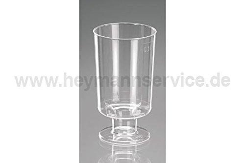Sherryglas mit Fuß 100ml glasklar mit Eichstrich