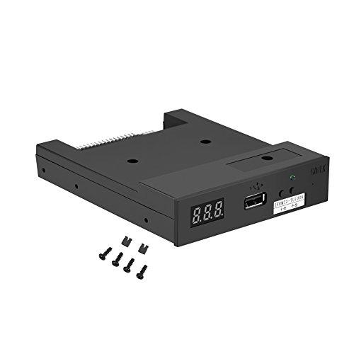 Richer-R 3.5Zoll USB Diskettenlaufwerk Emulator, SFRM72-TU100K 720K 3.5 Zoll USB Drive Floppy Laufwerk Emulator Simulation,Geeignet für industrielle Steuergeräte Schwarz