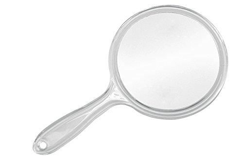 Handspiegel Kunststoff transparent 3x Vergrößerung