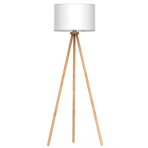 tomons Stehlampe Stativ aus Holz für das Wohnzimmer, Schlafzimmer und andere Zimmer, Skandinavischer Stil, 148 cm Höhe – FL1002