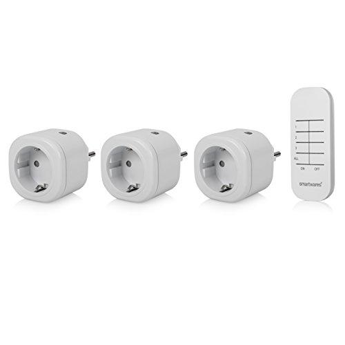 Smartwares SH4-99553 Funk Mini-Steckdosen-Set, Weiß