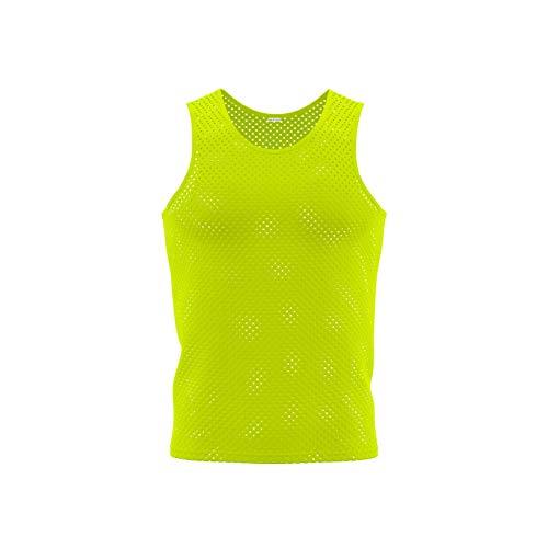 Justteamsport 10x Markierungshemden/Trainingsleibchen 5 Farben - 3 Größen lieferbar (Gelb, Mini/Bambini)