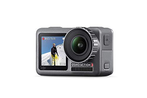 DJI Osmo Action Cam Digitale Actionkamera mit 2 Bildschirmen 11m wasserdicht 4K HDR-Video 12MP 145° Winkelobjektiv Kamera Schwarz