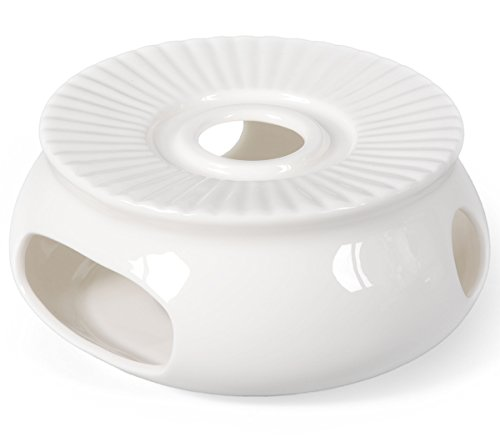 Porzellan Stövchen / Teewärmer für Teekanne in weiß, Ø 14,5cm, Original Aricola