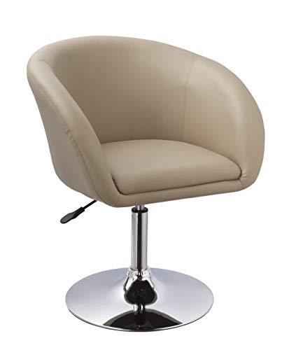 Duhome Sessel höhenverstellbar Esszimmerstuhl Kunstleder Clubsessel Coctailsessel Lounge Sessel Farbauswahl - TYP 440