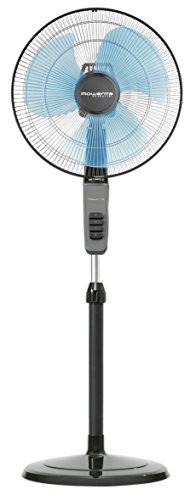 Rowenta Standventilator ESSENTIAL/Durchmesser 40 cm/sehr leise/hohe Luftumwälzung, schwarz, VU4110